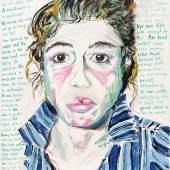 "Elke Krystufek  ""Californian Police"", 2000, Acryl auf Leinwand, 70 x 50 cm  Foto: Galerie Zimmermann Kratochwill"
