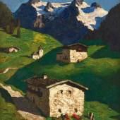 "Alfons Walde, ""Berghof"", um 1934, Öl auf Papier auf Karton, 29,8 x 49,2 cm, rechts unten signiert: A. Walde, Foto: Kovacek Spiegelgasse"