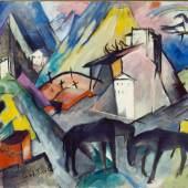 Franz Marc, Das arme Land Tirol, 1913 Öl auf Leinwand, 131,1 x 200 cm, Solomon R. Guggenheim Museum, New York, USA Solomon R. Guggenheim Founding Collection