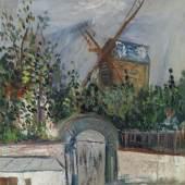 Kat.-Nr. 30 MAURICE UTRILLO Le Moulin de la Galette à Montmartre Zuschlag (inkl. Aufgeld) CHF 108'000   EUR 90'000