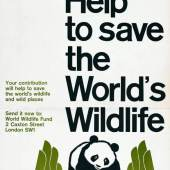 WWF Plakat, 1962, WWF-Grossbritannien. ©Schweizerisches Nationalmuseum