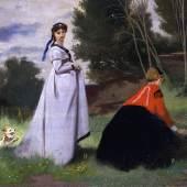 Anselm Feuerbach Zwei Damen in der Landschaft, 1867Öl auf Leinwand© Staatliche Museen zu Berlin, Nationalgalerie / Jörg P. Anders
