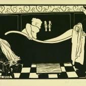 Félix Vallotton: Das Bad (Le Bain), 1894. Holzschnitt, 18 x 22,3 cm. © bpk / Staatliche Museen zu Ber Volker-H. Schneider