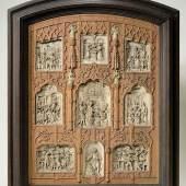 Lied von der Glocke, Holztafel mit neun Elfenbeinreliefs, um 1840/50 55 x 44,5 cm Bayerisches Nationalmuseum Inv.-Nr. 55/124 © Bayerisches Nationalmuseum Foto: Walter Haberland