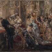 Adolph von Menzel: Im Weißen Saal / Ball- Episode, 1888, Öl auf Leinwand, Museum Georg Schäfer, Schweinfurt © Museum Georg Schäfer, Schweinfurt