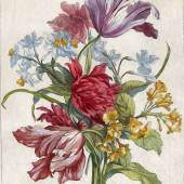 Original Kupferstich von Nicolas de Poilly, Paris um 1680, koloriert, ca. 37 x 25 cm.  Foto: Kunstkabinett Strehler