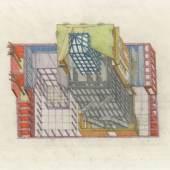 Oswald Mathias Ungers: Deutsches Architekturmuseum Frankfurt am Main, 1980 (kolorierte Zeichnung, ca. 40,0 x 30,0 cm) © DAM