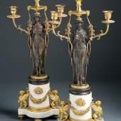 Girandolenpaar mit Karyatiden -  St. Petersburg, um 1820