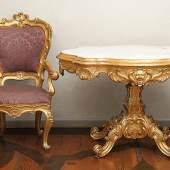 Große repräsentative Salongarnitur - Venedig, 19. Jh.