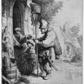 Rembrandt, Der Rattengiftverkäufer, 1632, Radierung Foto: Alte Galerie, Universalmuseum Joanneum, Graz