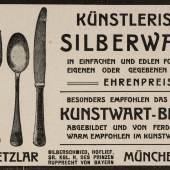 """Anzeige aus """"Der Kunstwart"""", 1911 © Münchner Stadtmuseum"""