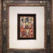 """Marc Chagall """"Au cirque"""", 1962, Öl auf Holz, 20,7 x 13,2 cm, links mittig signiert Foto: Galerie Française Gérard Schneider / © Bildrecht Wien, 2020"""
