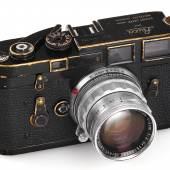 """Leica M3 Schwarz Lack Nr. 915252 """"Herbert List"""" © WestLicht Photographica Auction"""