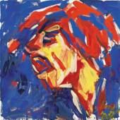 OTTO MUEHL (*1925) Hendrix, 27.11.1983 Öl auf Leinwand 90,7 x 90,6 cm Privatbesitz © VBK Wien, 2010
