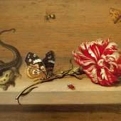 Johannes Boumann (Um 1601-nach 1635): Stillleben mit Nelke und Insekten