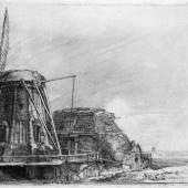 Rembrandt, Die Windmühle, 1641, Radierung Foto: Alte Galerie, Universalmuseum Joanneum, Graz