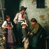 """Franz von Defregger, """"Der kleine Soldat"""", 1890er Jahre, Öl auf Leinwand, 61 x 48,5 cm, rechts unten signiert: F. Defregger, Foto: Kunsthandel Giese & Schweiger"""