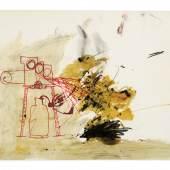 Stephen Cripps, ohne Titel, (Photo Copier), 1978  Collage mit Tinte, Bleistift, Kohle, Kleber und schwarze Partikel auf Papier 30 x 42 cm © The family of Stephen Cripps/Leeds Museums and Galleries (Henry Moore Institute Archive)