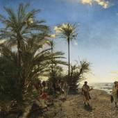 Adolf von Meckel  Die Palmen von Akabah am Roten Meer, 1884  © bpk / Staatliche Kunsthalle Karlsruhe