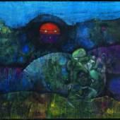 Max Ernst, La lune en bouteille, 1955 Öl auf Leinwand, 60 × 81,3 cm Tate: Presented by Sir Robert Adeane through the Friends of the Tate Gallery 1963¨ © Tate, London 2017 © 2020/2021 ProLitteris, Zürich