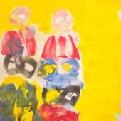 "Josef Mikl ""Zwei Figuren"", 2006, Öl auf Leinwand, 200 × 200 cm, signiert und datiert: M 2-6 Foto: Lilly's Contemporary Art Exclusive Antiques/© Bildrecht Wien, 2019"