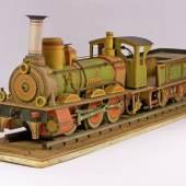 Lokomotive Pegasus mit Tender Verlag J.F. Schreiber Esslingen, 1881 Modellbaubogen Karton, Farbdruck Ausführung zusätzlich Sperrholz, Draht © Bayerisches Nationalmuseum München
