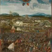Melchior Feselen: Belagerung der Stadt Alesia, 1533. Öl auf Fichtenholz mit Leinwand überzogen, 162 x 121,2 cm. © Bayerische Staatsagemäldesammlungen, München / Sybille Forster