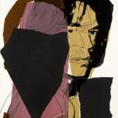 """Andy Warhol, """"Mick Jagger"""", 1975, Siebdruck auf Arches Aquarell Papier, 110,5 x 73,7 cm, Ed. 36/250, signiert von Andy Warhol und Mick Jagger, Foto: Gerald Hartinger Fine Arts © The Estate and Foundation of Andy Warhol/Bildrecht, Wien, 2016"""