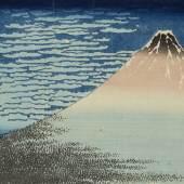 Nr. 379 840 Gaifû kaisei. Klares Wetter, weiße Wolken, auch genannt der ´Rote Fuji´. Ôban yoko-e Japan, Katsushika Hokusai (1760 – 1849) Schätzpreis: € 30.000 – 40.000,-