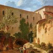 Nr. 385 592 Leo von Klenze (1784 – 1864) Römische Bauten mit Ansicht der Cloaca Maxima. Vor 1825 Öl auf Kupfer, 56,5 x 44,5 cm. WVZ Lieb G3 Schätzpreis: € 250.000 – 350.000,-