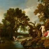 Nr. 389 057 Moyses van Uyttenbroeck Landschaft mit Badenden Öl auf Holz, 47,7 x 69 cm Ergebnis: € 372.000,- Inter5nationaler Rekordpreis