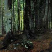 J. H. Jungnicke, Buchenwald, um 1903 Öl auf Leinwand, rechts unten signiert: L. JUNGNICKEL