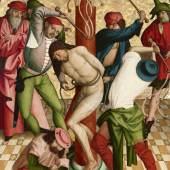 Rueland Frueauf d. Ä., Geißelung Christi, 1491 © Belvedere, Wien Malerei auf Fichtenholz 208,3 x 134,6 cm