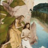 Rueland Frueauf d. J., Taufe Jesu, Anfang 16. Jh. © Stiftmuseum Klosterneuburg Malerei auf Fichtenholz, 74 x 43 cm