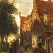 Cornelis Springer (1817-1891), niederländischer Genre- u. Ansichtenmaler, studierte an der Amsterdamer Akademie bei Jan van der Stok, Herman G. ten Cate sowie bei K. Karsen, arbeitete in Amsterdam, Brüssel sowie zeitweilig in Deutschland