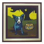 "67 RODRIGUE, George. ""Happy Birthday Darling"". Mindestpreis 900,– EUR"