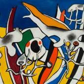 Galerie Von Vertes Fernand Léger (1881-1955)  Peinture imaginaire, 1939-1952, oil on canvas, 60 x 92cm