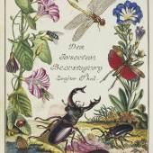 Rösel und Rosenhof, August Johann. Der monatlich herausgegebenen Insecten-Belustigung erster (bis vierter) Teil. 4 Bände + 1 separater Tafelband. 1746 - 1761. 11.200,- (Schöneborn, Würzburg)