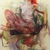 Lot 5 Jenny Saville Susanna signed and dated 2017-18 pastel and charcoal on watercolor paper mounted on board 78 3/4 by 59 7/8 in. 200 by 252 cm. Executed in 2017-18.  Estimate $450/550,000 Sold for $735,000