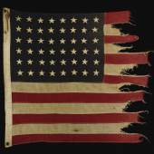 10002 The Battle-Worn Flag from the USS Corry (DD-463), Lead Destroyer at Utah Beach on D-Day, 6 June 1944