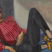 Lot 7 Alice Neel Connie signed with the artist's initials oil on canvas 237⁄8 by 303⁄4 in. 60.6 by 78.1 cm. Executed circa 1945 Estimate $300/500,000 Sold for $920,000