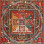10033 Thangka Depicting a Hevajra Mandala Tibet