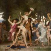 Lot 38 Property from the Direct Descendants of the Artist William Bouguereau La Jeunesse De Bacchus Signed W- BOUGUEREAU- and dated 1884 (lower left) Oil on canvas 130 3/8 by 240 1/8 in. 331 by 610 cm Estimate $25/35 million