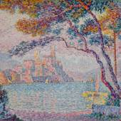 Lot 7 Works From An Important Private Collection, Sold In Part To Benefit Two Not-For-Profit Institutions In The Fields Of Science And Music Paul Signac Antibes. Soir Signed P. Signac and dated 1903 (lower left) Oil on canvas 28 5/8 by 36 1/8 in. 72.8 by 92 cm Painted in 1903. Estimate $4/6 million Sold for $7,667,500