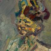 Frank Helmuth Auerbach Head of Julia Oil on canvas 26 by 26 in. Executed in 1985 Estimate $600/800,000