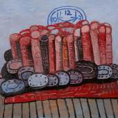 Philip Guston Legs, Rug, Floor Signed, titled, and dated 1976 on the reverse Oil on canvas 80 by 100 in. Executed in 1976 Estimate $6/8 million