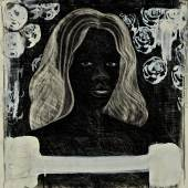 Lot 206 Property from a Private American Collector Kerry James Marshall Untitled (Self-Portrait) Supermodel signed and dated '94 Conté crayon, charcoal and acrylic on paper 19 3/4 by 19 3/8 in. 50.2 by 49.3 cm. Estimate $800,000/1.2 million