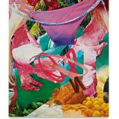 Lot 220 Jeff Koons Beach signed and dated '01 on the overlap oil on canvas 108 by 84 in. 274.3 by 213.4 cm. Estimate $1/1.5 million Sold for $1,340,000