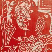 10134 Lot 47, Pablo Picasso, Portrait de Jacqueline au fauteuil (Ba. 1054)