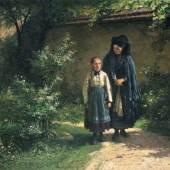 13  Friedrich Leon Pohle, Nach dem Kirchgang. Um 1868-1876. Ausrufpreis: 12.000 €